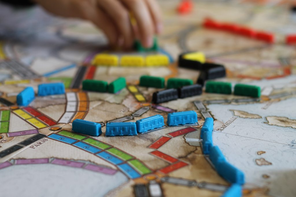 making board games, ticket to ride