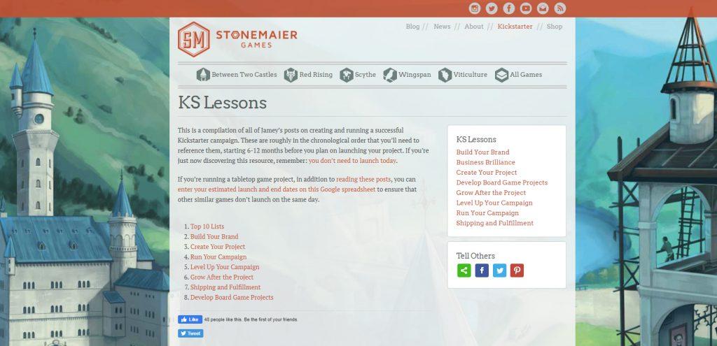 Stonemaier games website